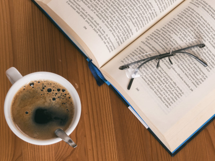 Image showing coffee and a book
